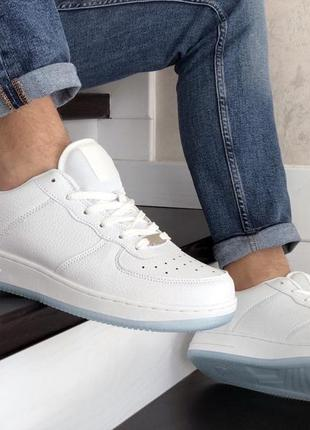 Nike air force white мужские кроссовки белые