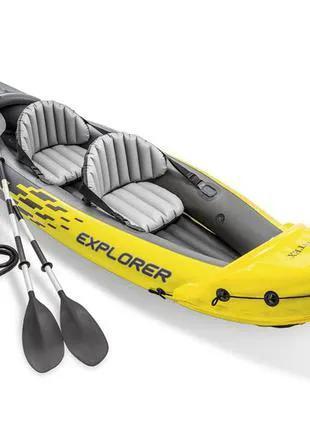 Каяк байдарка лодка двухместная Intex