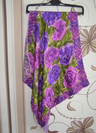 Красочный шелковый платок, италия