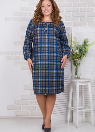 Платье повседневное спортивного стиля, осень-зима р.50 код 2670м
