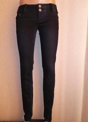 Стильные черные женские зауженные джинсы, штаны с низкой посад...