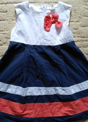 Платье летнее для девочки р.114