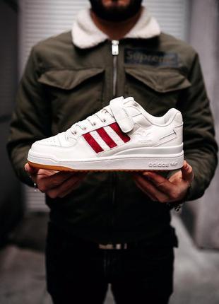 "Кроссовки мужские adidas forum ""white/red"""