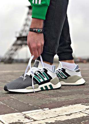 Мужские зеленые кроссовки adidas eqt support 91/18