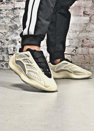 Бежевые мужские кроссовки adidas yeezy boost 700 v3 azael