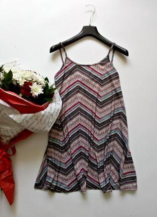 Лёгкое трикотажное платье трапеция 10( s-m)