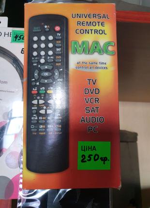 Пульт универсальный MAC для ТВ / DVD / Музыкальных Центров и т.д.