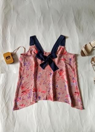 Нежная блуза с фламинго, майка, топ