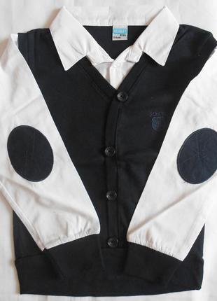 Трикотажные  рубашки- обманки на мальчиков 5-6, 9-10, 13 -14 лет