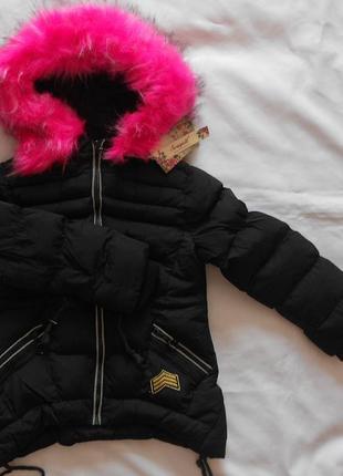 Курточки зимние на девочек, 4 - 6 лет
