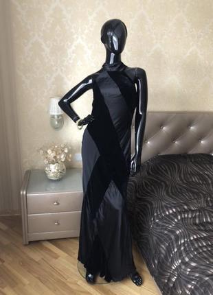 Платье zara, вечернее, нарядное, в пол, бархат размер 44, 46