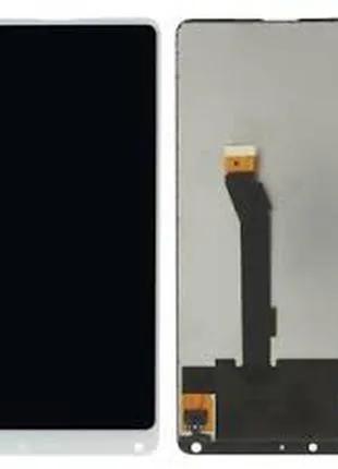 Дисплей для Xiaomi Mi Mix 2S белый, с тачскрином