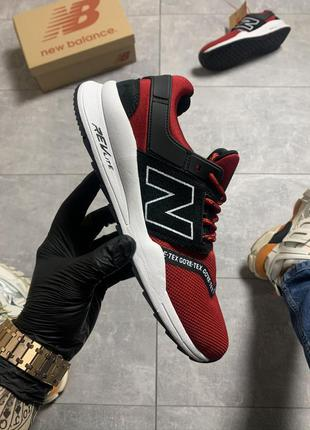 New balance 574 red black, мужские кроссовки