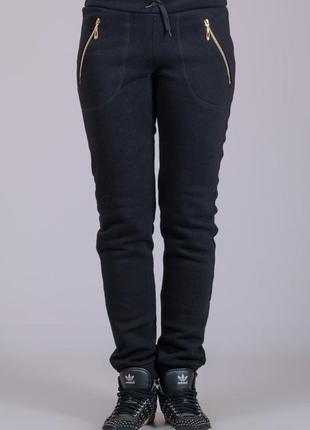 Теплые женские штаны, брюки с начесом, трикотажные, р-р 46-56