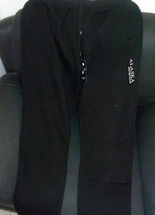 Теплые зимние с начесом штаны мужские, спортивные, р-р 48-56