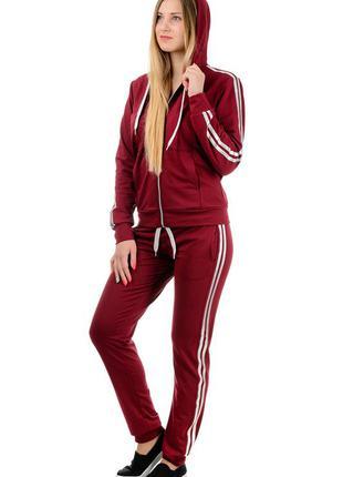 Весенне-летний  спортивный костюм женский демисезонный, трикот...