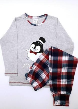 """Детская пижама """"пингвин"""" на 3-4 года/5-6/7-8 лет"""