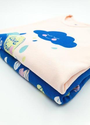 """Детская хлопковая пижама на девочку """"зайка"""" на 3-4 года/4-5/5-..."""
