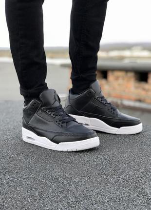 Nike jordan 3🔺мужские  кроссовки найк джордан черные с белым
