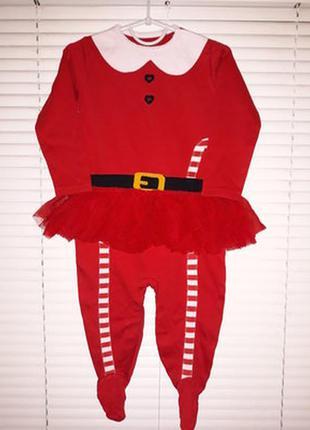 ⭐🌷⭐боди, бодик, человечек детский новогодний на девочку next 3...