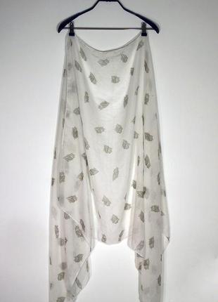 Шаль-платок с принтом совы