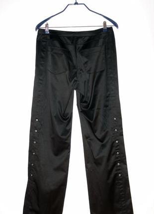 Нарядные сатиновые брюки со шнуровкой