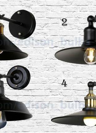 Бра, Светильник настенный для бара, кофейни с металл лампы Эди...