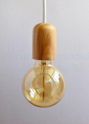Деревянный подвесной светильник для кофейни любой провод +ламп...