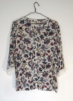 Нарядная блузка из жатой вискозы
