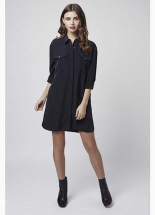 Платье-рубашка миди прямого кроя topshop