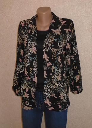 Жакет в цветочный принт\пиджак\кардиган\жакет в квітковий прин...