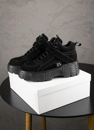 Ms spring sneakers black ♦ женские кроссовки ♦ весна лето осень