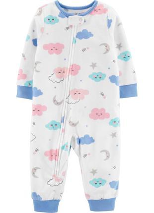 Слип без стоп, пижама 3т carters микрофлис, флис