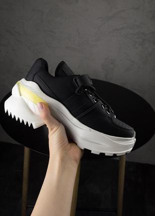 Ms sneakers black white 1000-1 ♦ женские кроссовки ♦ весна лет...