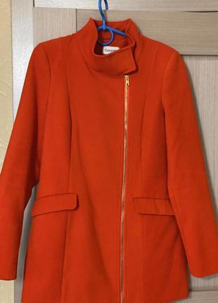 Пальто george морковного цвета