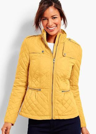 Желтая яркая куртка ветровка деми talbots