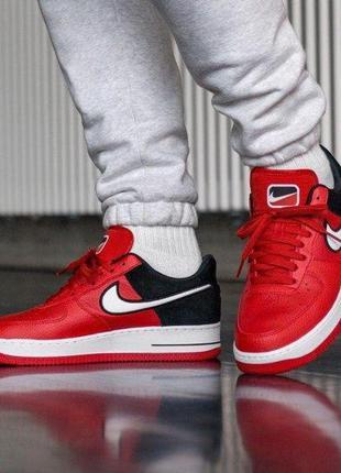 Nike air force 1 07 lv8 red, мужские кроссовки найк