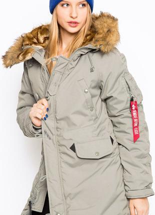 Жіноча куртка аляска Altitude W Parka Alpha Industries (сіра)