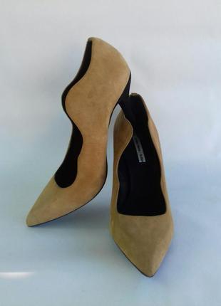 Натуральные замшевые итальянские туфли vero cuoio