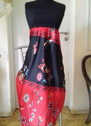 Платье-юбка)шелк.