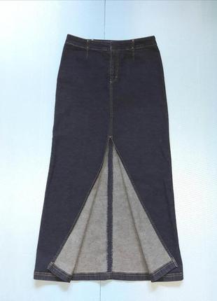 Юбка длинная джинсовая с разрезом s