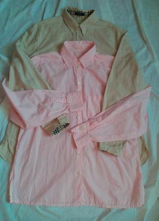 Классная нежная розовая рубашка ван лаак р.м/л