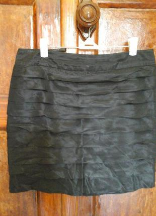 Шикарная юбка шелк рюши