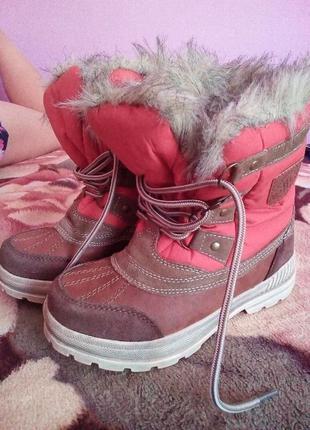 Зимние сапоги ботинки на шнурках мальчику