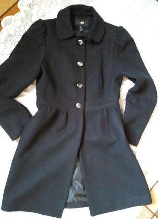 Демисезонное пальто платье шерстяное
