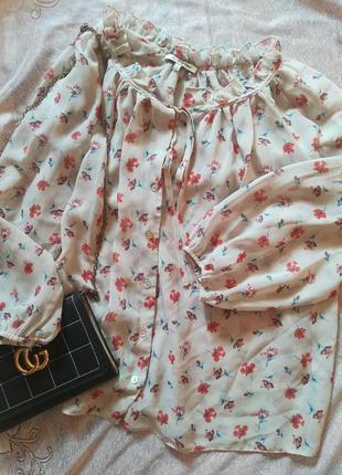 Шёлковая блузка оверсайз просвечивает
