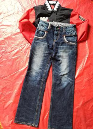 Весна 2020 джинсы стильные мальчишке 128/140