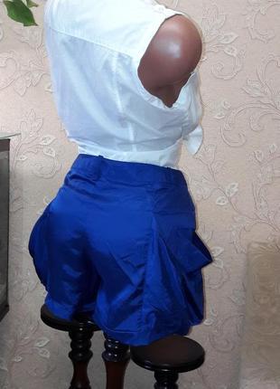 Оригинальные шелковые шорты большие карманы л