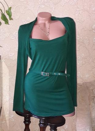 Топ ,блуза ,туника длинный рукав верх болеро л-м