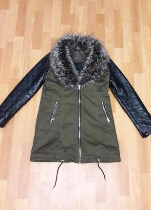 Куртка парка с меховым воротником м-s